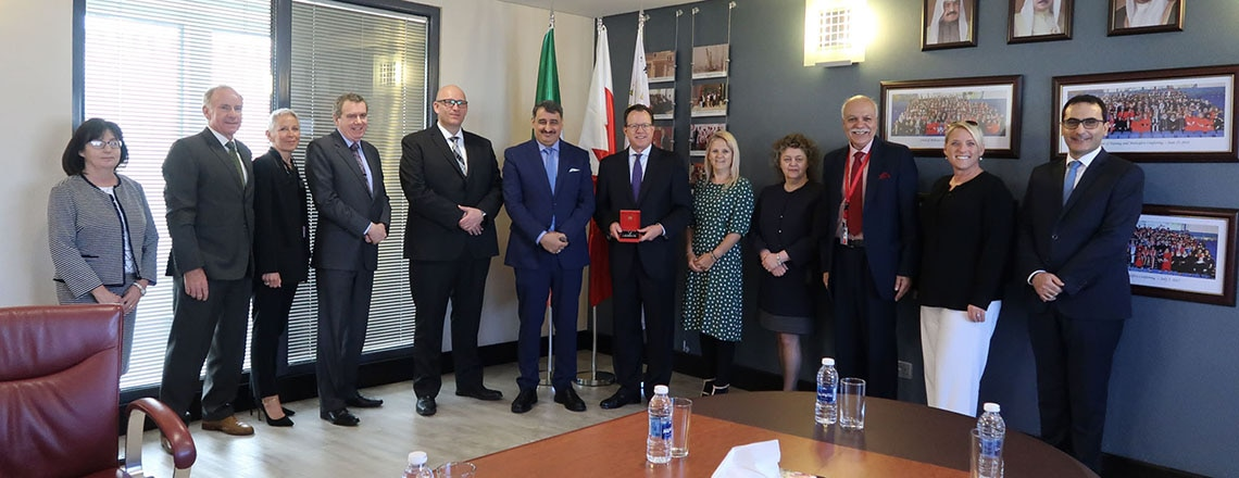 The Royal College of Surgeons in Ireland – Bahrain Receives the U.S. Ambassador