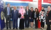 University of Bahrain President at the U.S. embassy booth