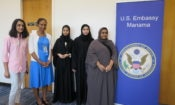 U.S. Embassy representatives with Bahraini females students