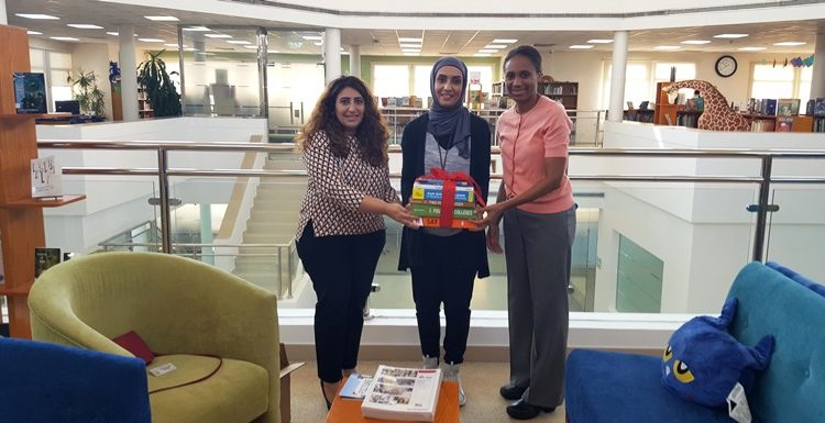 Donation of EducationUSA books and Study Guides to IKNS and Bahrain Bayan School